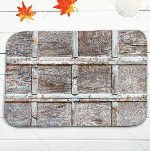 Latest Wood Grain Plaid 3Pcs/Set Flannel Bath Toilet Mats - WOOD COLOR  Mobile