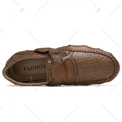 Latest Stitching Embossed Slip On Casual Shoes - 38 BROWN Mobile