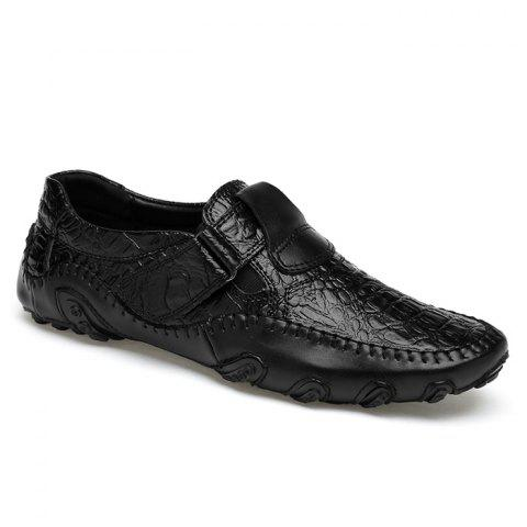 Latest Stitching Embossed Slip On Casual Shoes - 38 BLACK Mobile