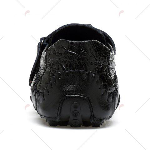 Store Stitching Embossed Slip On Casual Shoes - 38 BLACK Mobile
