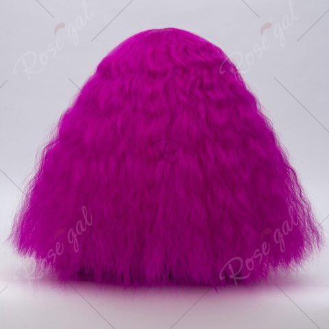 Fashion Long Side Bang Fluffy Curly Wave Lolita Cosplay Wig - BRIGHT PURPLE  Mobile