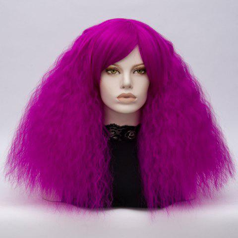 Store Long Side Bang Fluffy Curly Wave Lolita Cosplay Wig - BRIGHT PURPLE  Mobile