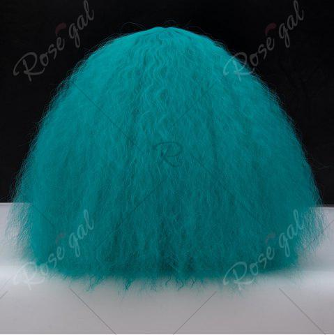 Fancy Long Side Bang Fluffy Curly Wave Lolita Cosplay Wig - GREEN  Mobile