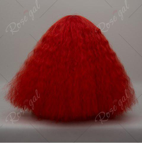 Online Long Side Bang Fluffy Curly Wave Lolita Cosplay Wig - RED  Mobile