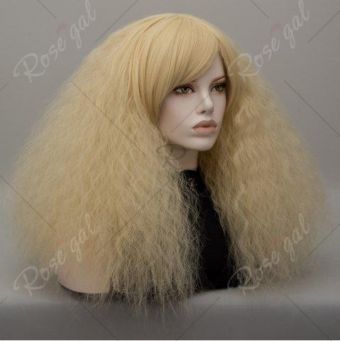 Discount Long Side Bang Fluffy Curly Wave Lolita Cosplay Wig - VENETIAN GOLD  Mobile