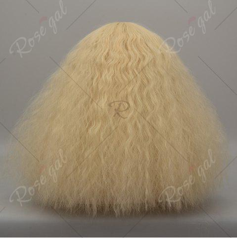 New Long Side Bang Fluffy Curly Wave Lolita Cosplay Wig - VENETIAN GOLD  Mobile