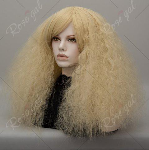 Affordable Long Side Bang Fluffy Curly Wave Lolita Cosplay Wig - VENETIAN GOLD  Mobile