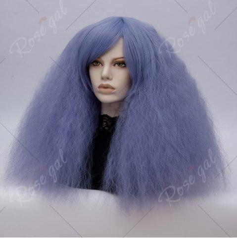 Outfit Long Side Bang Fluffy Curly Wave Lolita Cosplay Wig - CLOUDY  Mobile