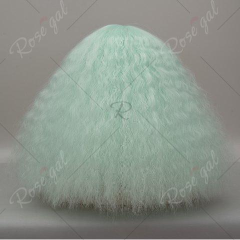 Outfits Long Side Bang Fluffy Curly Wave Lolita Cosplay Wig - NEON GREEN  Mobile