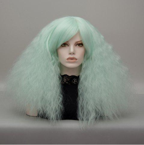 Outfit Long Side Bang Fluffy Curly Wave Lolita Cosplay Wig - NEON GREEN  Mobile