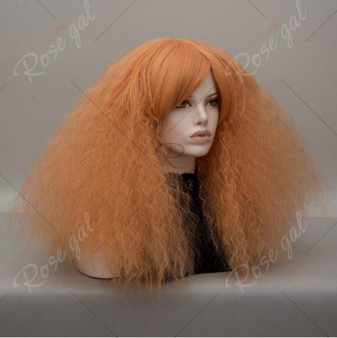Fancy Long Side Bang Fluffy Curly Wave Lolita Cosplay Wig - GOLDEN  Mobile