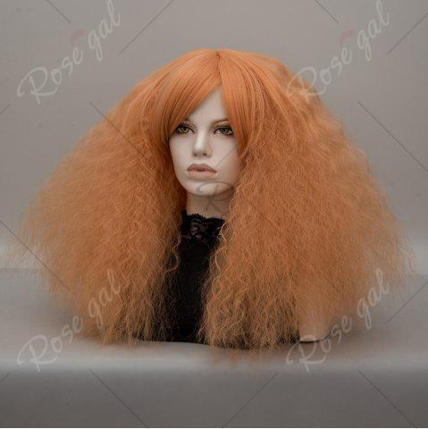 Trendy Long Side Bang Fluffy Curly Wave Lolita Cosplay Wig - GOLDEN  Mobile