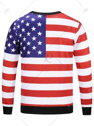 Unique American Flag Patriotic Sweatshirt - L COLORMIX Mobile