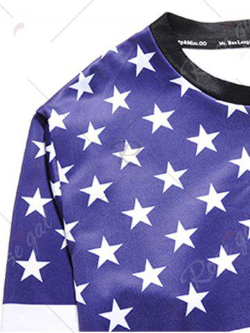 Discount American Flag Patriotic Sweatshirt - L COLORMIX Mobile