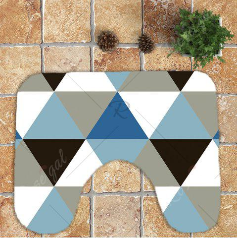 Buy Rhombus Pattern Nonslip 3Pcs Bathroom Mats Set - COLORMIX  Mobile