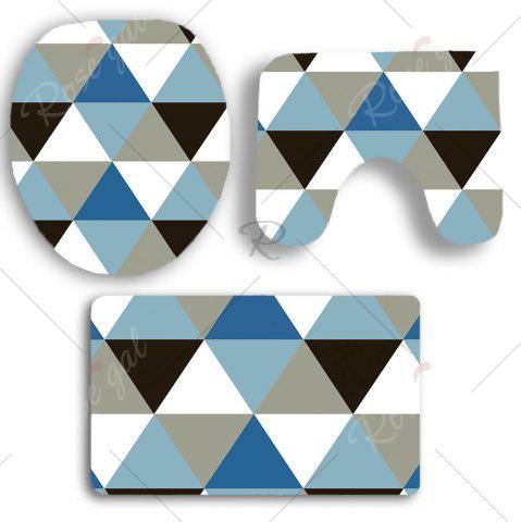 New Rhombus Pattern Nonslip 3Pcs Bathroom Mats Set - COLORMIX  Mobile