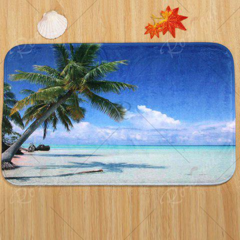 Affordable Beach Tree Pattern 3 Pcs Bath Mat Toilet Mat - BLUE  Mobile