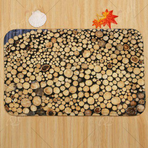 Online Firewood Pattern 3 Pcs Bath Mat Toilet Mat - BROWN  Mobile
