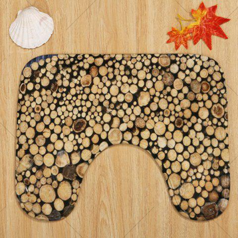 Latest Firewood Pattern 3 Pcs Bath Mat Toilet Mat - BROWN  Mobile