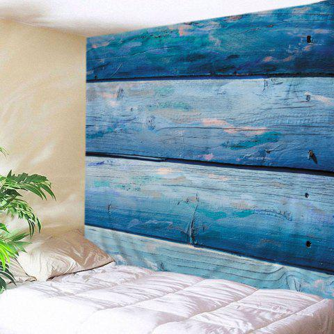 Wood Boards Print Tapestry Wall Hanging Art Decoration - Light Blue - W79 Inch * L59 Inch