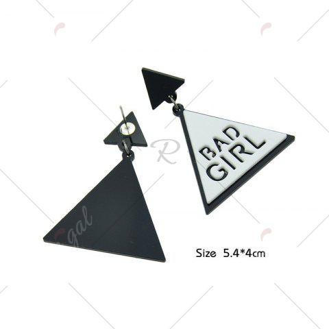 Shops Bad Girl Cool Triangle Drop Earrings - WHITE  Mobile