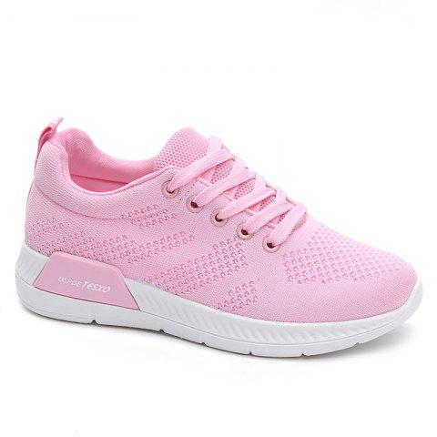 Latest Hollow Out Breathable Mesh Sneakers PINK 37