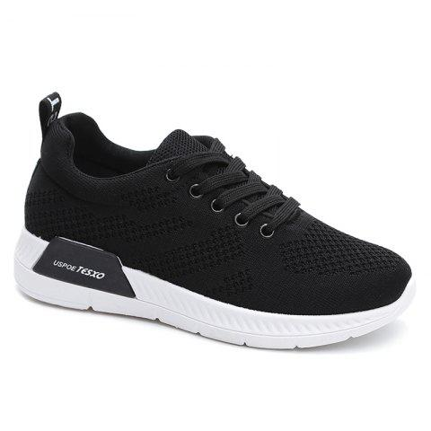 Cheap Hollow Out Breathable Mesh Sneakers - 40 BLACK Mobile