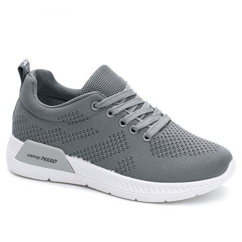 Fancy Hollow Out Breathable Mesh Sneakers GRAY 40