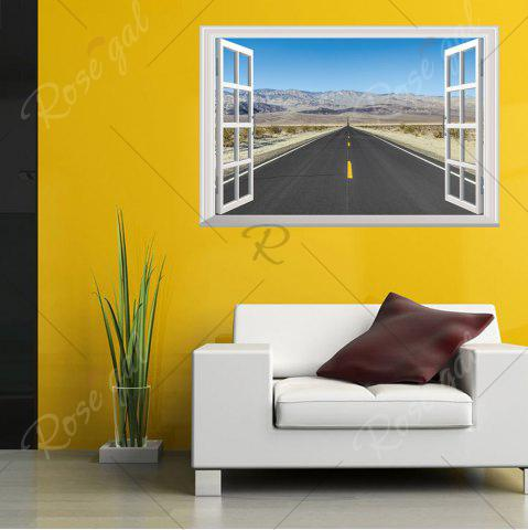 Hot Window Highway Moutains Removable 3D Wall Art Sticker - 48.5*72CM COLORMIX Mobile