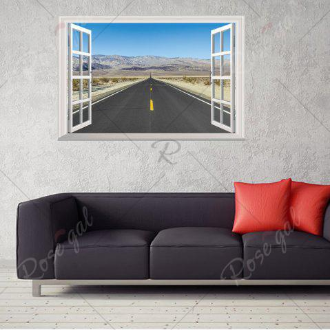 Best Window Highway Moutains Removable 3D Wall Art Sticker - 48.5*72CM COLORMIX Mobile