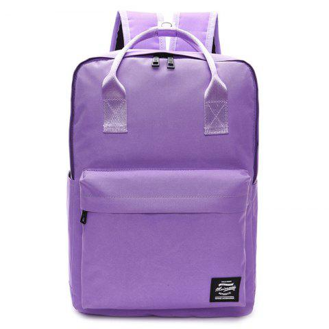 Outfit Double Pocket Top Handle Backpack PURPLE