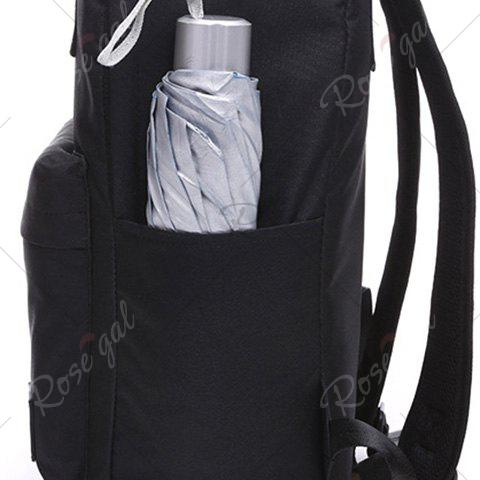 Outfits Double Pocket Top Handle Backpack - PURPLE  Mobile