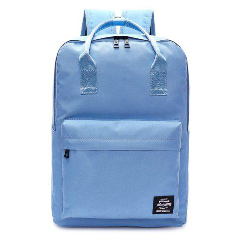 Shops Double Pocket Top Handle Backpack AZURE