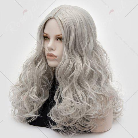 Online Long Middle Part Fluffy Layered Wavy Lolita Cosplay Wig - FROST  Mobile