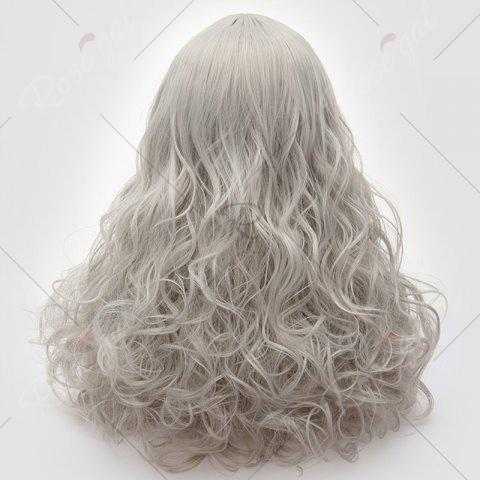Latest Long Middle Part Fluffy Layered Wavy Lolita Cosplay Wig - FROST  Mobile
