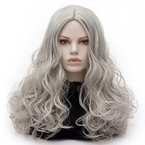 Cheap Long Middle Part Fluffy Layered Wavy Lolita Cosplay Wig - FROST  Mobile
