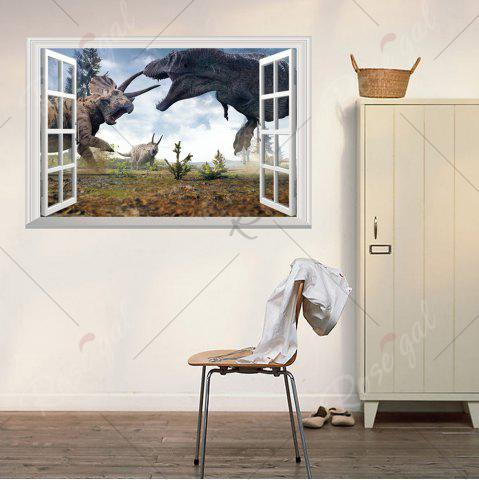 Affordable Window Dinosaurs 3D Wall Art Sticker For Kids Room - 48.5*72CM COLORMIX Mobile
