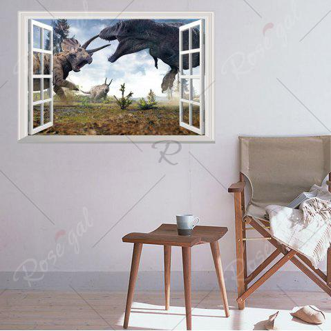 Latest Window Dinosaurs 3D Wall Art Sticker For Kids Room - 48.5*72CM COLORMIX Mobile