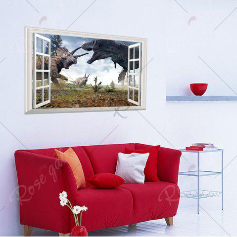 Store Window Dinosaurs 3D Wall Art Sticker For Kids Room - 48.5*72CM COLORMIX Mobile
