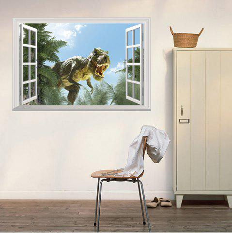 Affordable Window Dinosaur Removable 3D Wall Art Sticker COLORMIX 48.5*72CM