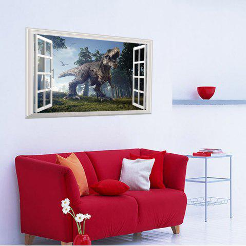 New Window Forest Dinosaur Removable 3D Wall Art Sticker - 48.5*72CM COLORMIX Mobile