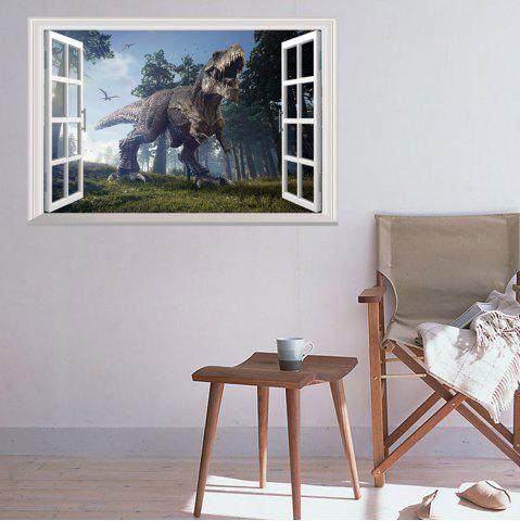 Chic Window Forest Dinosaur Removable 3D Wall Art Sticker - 48.5*72CM COLORMIX Mobile