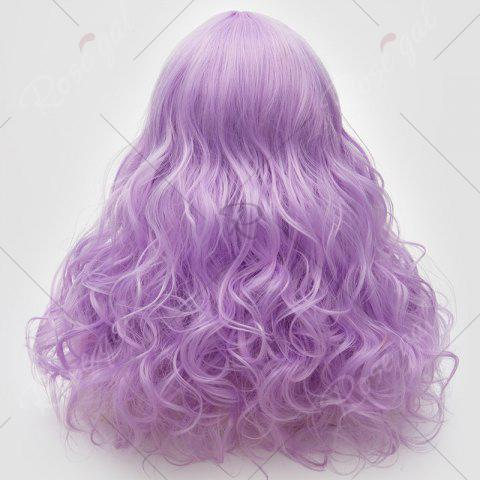 Latest Long Middle Part Fluffy Layered Wavy Lolita Cosplay Wig - LIGHT PURPLE  Mobile