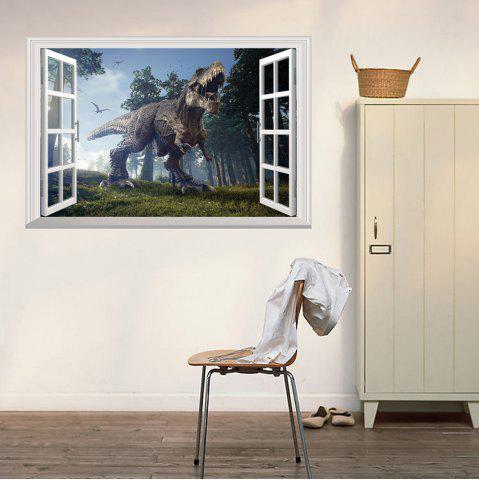 Latest Window Forest Dinosaur Removable 3D Wall Art Sticker - 48.5*72CM COLORMIX Mobile