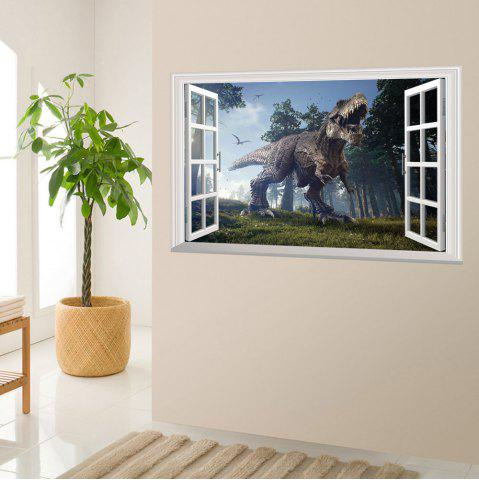 Outfits Window Forest Dinosaur Removable 3D Wall Art Sticker - 48.5*72CM COLORMIX Mobile
