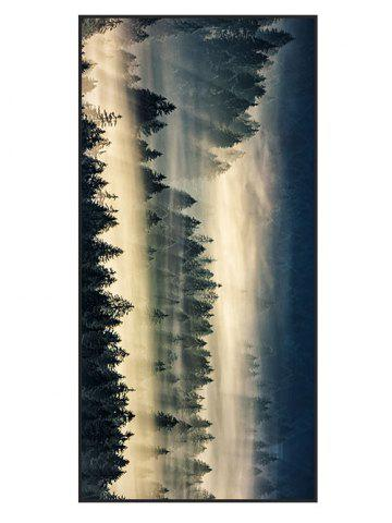Cloud Forest Print Polyester Bath Towel - Blackish Green - W15.5 Inch * L67 Inch
