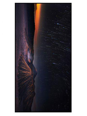 Soft Fabric Meteor Shower Printed Bath Towel - Black Blue - W15.5 Inch * L67 Inch