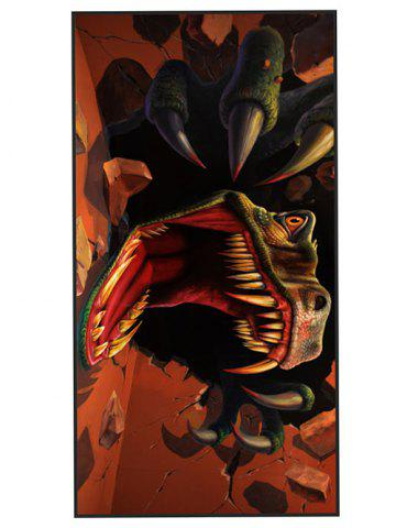 Soft Fabric Tyrannosaurus Print Bath Towel - Burnt Orange - W15.5 Inch * L67 Inch