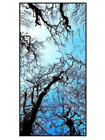 Sky and Branches Print Polyester Soft Bath Towel - Sky Blue - W15.5 Inch * L67 Inch