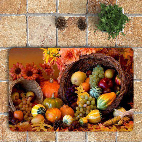Hot Nonslip Fruits Pattern 3Pcs Bathroom Mats Set - COLORFUL  Mobile